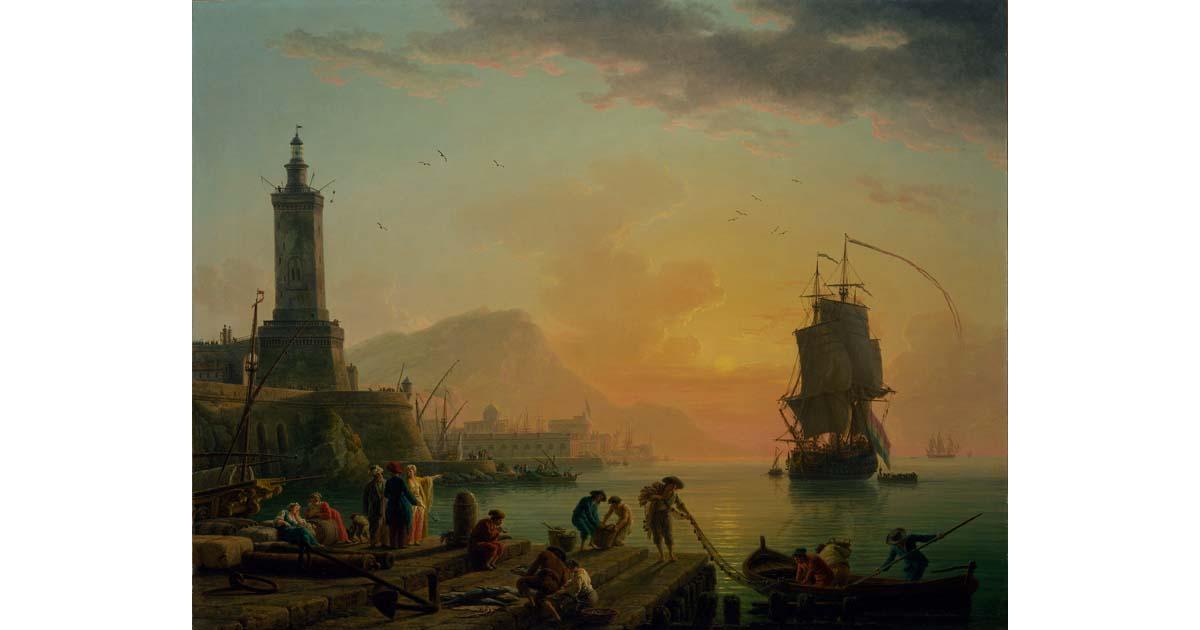 Claude-Joseph Vernet - A Calm at a Mediterranean Port