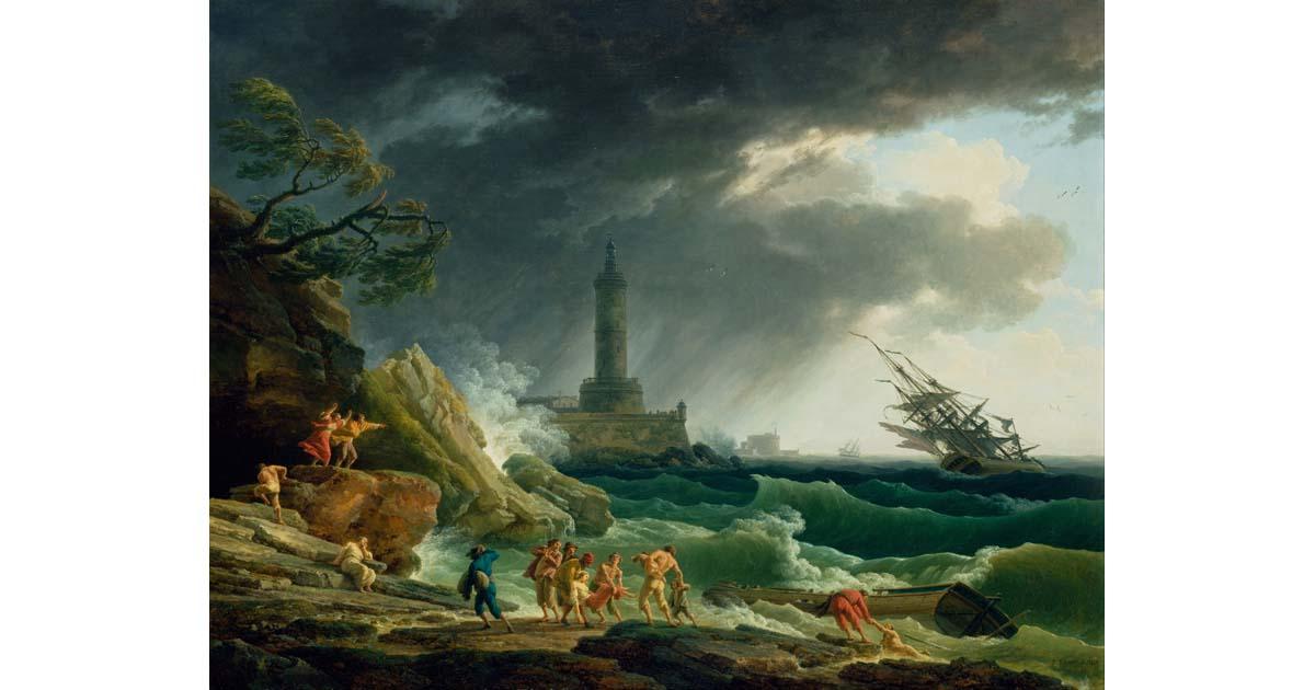 Claude-Joseph Vernet - A Storm on a Mediterranean Coast