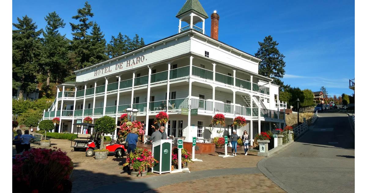 The historic Hotel de Haro in Roche Harbor, San Juan Islands.