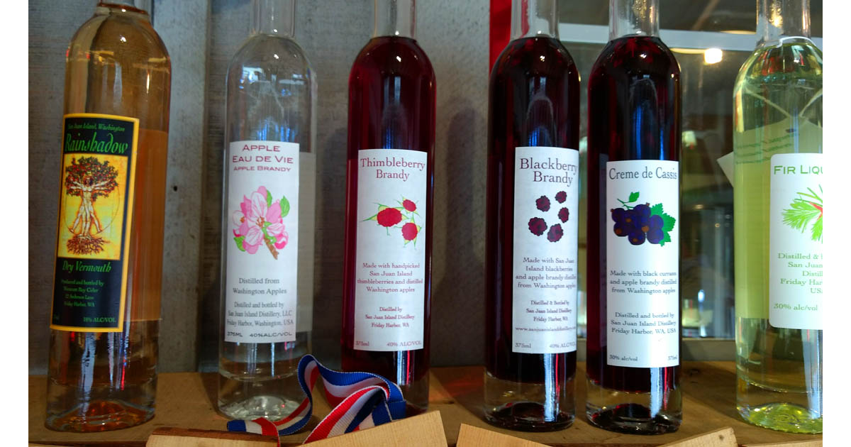 San Juan Island Distillery uses local fruits to flavor their delicious liqueurs