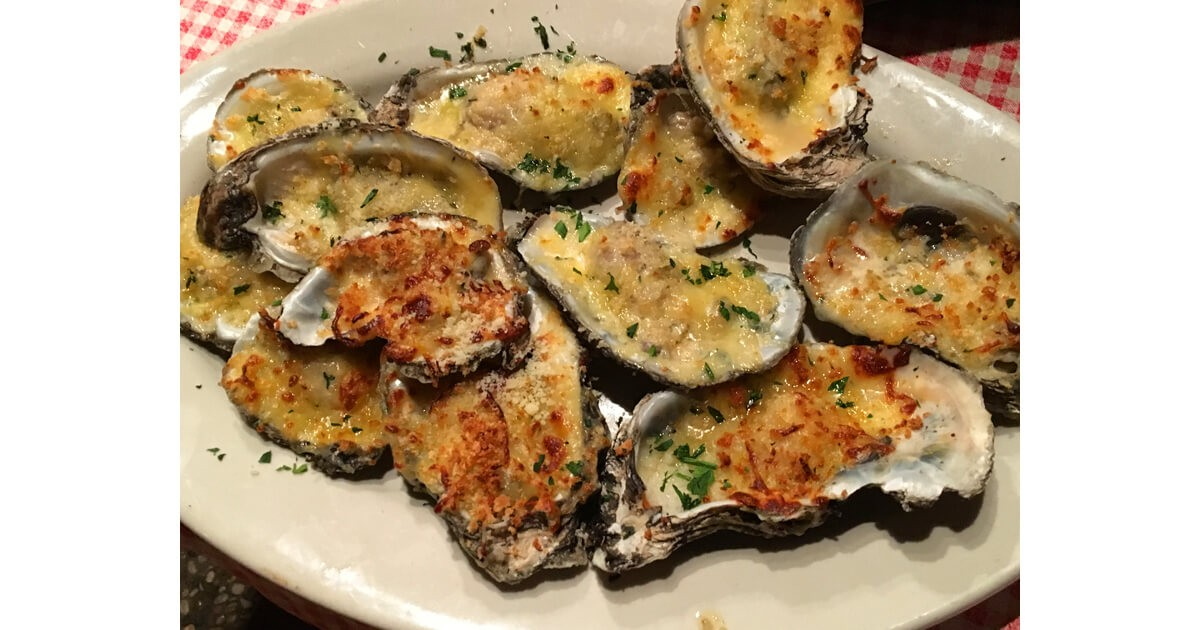 Chargrilled oysters at Randol's