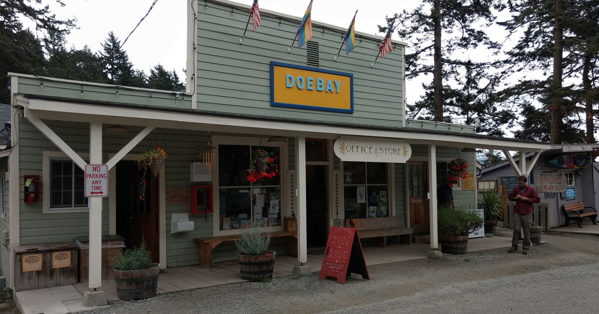 The Doe Bay General Store is full of local crafts as well as everday necessities