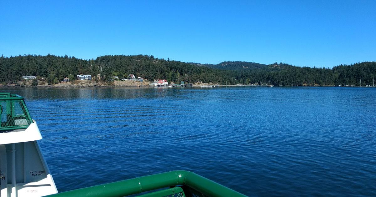Approaching Orcas Island