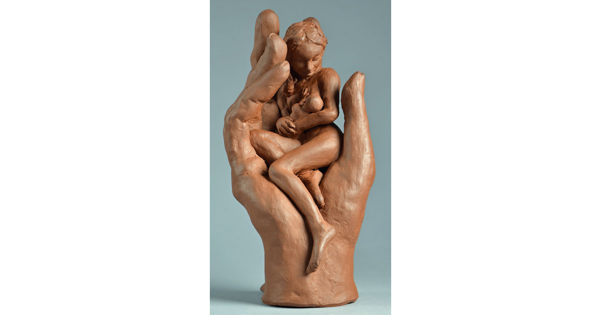 Sheltered Mother and Child by Charles Tryon