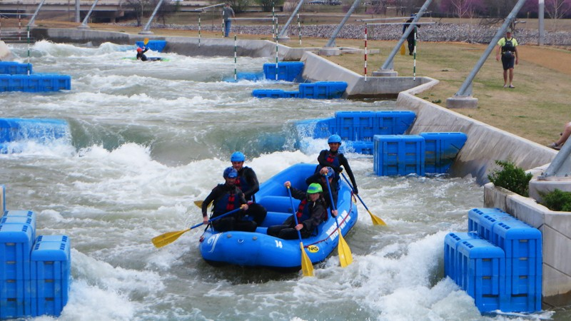 At Riversport Rapids, you can go whitewater rafting in the middle of OKC.