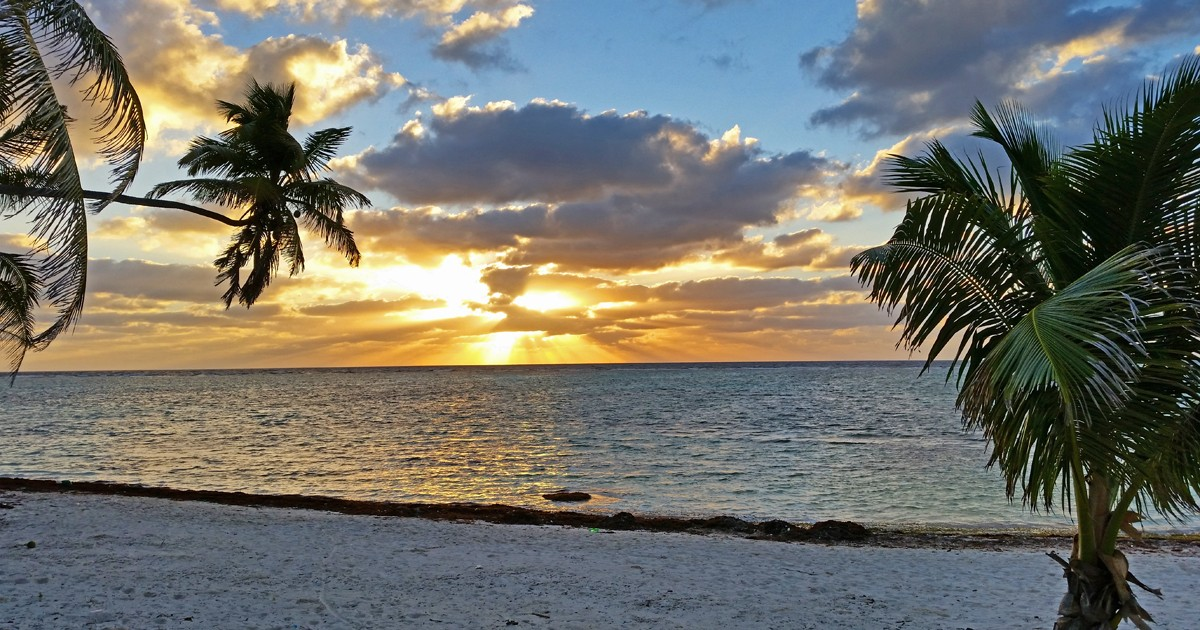 Tranquility Bay Resort Sunset - Belize
