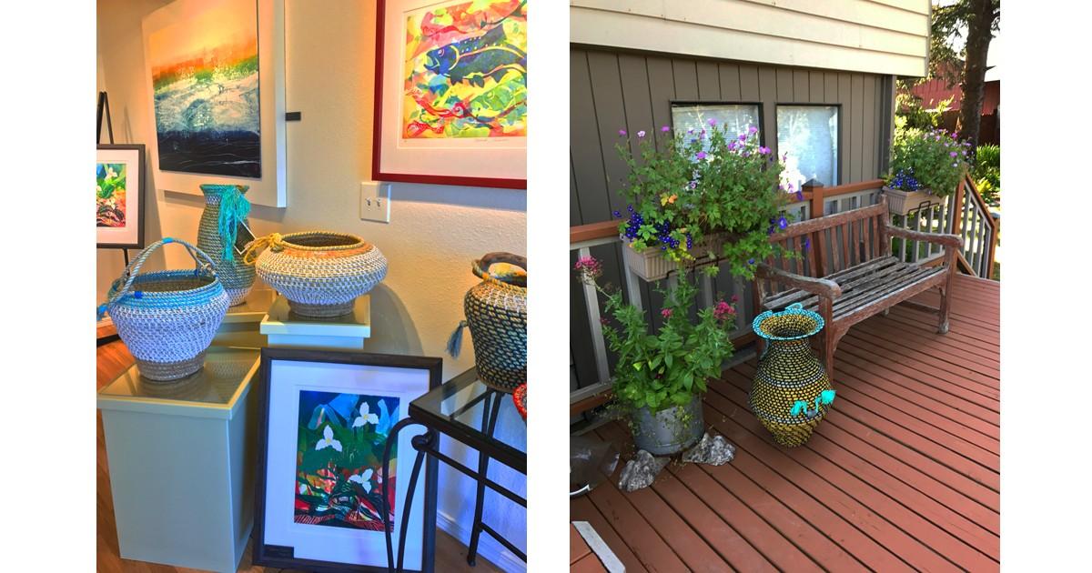 Susan Spence Beach Baskets in Marie Powell Gallery