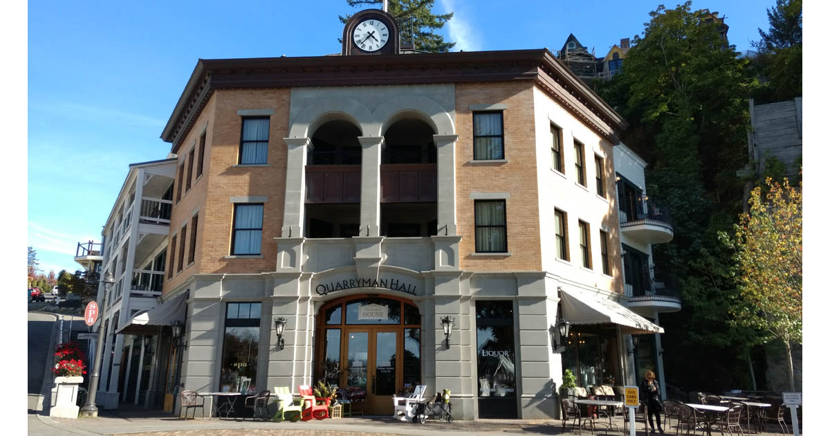 The Quarryman Hall is now an hotel. Roche Harbor