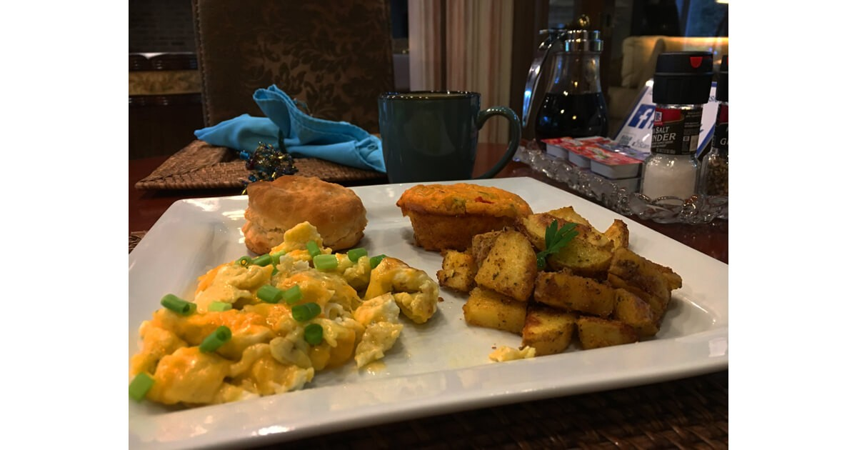 Hearty breakfast at Cajun Country Inn