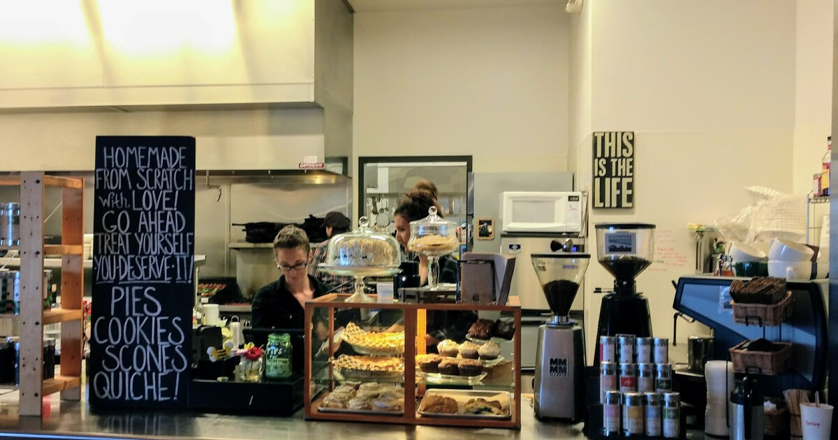 Busy kitchen at Cama Beach Cafe.