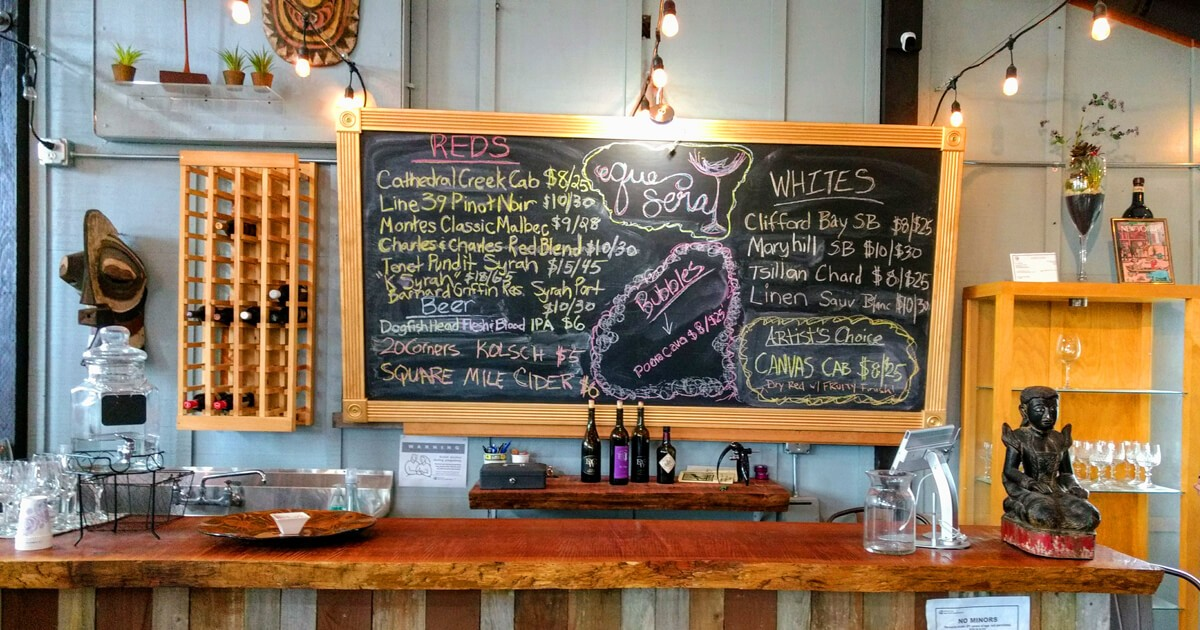 Washington Wines on the menu at the Camano Marketplace.