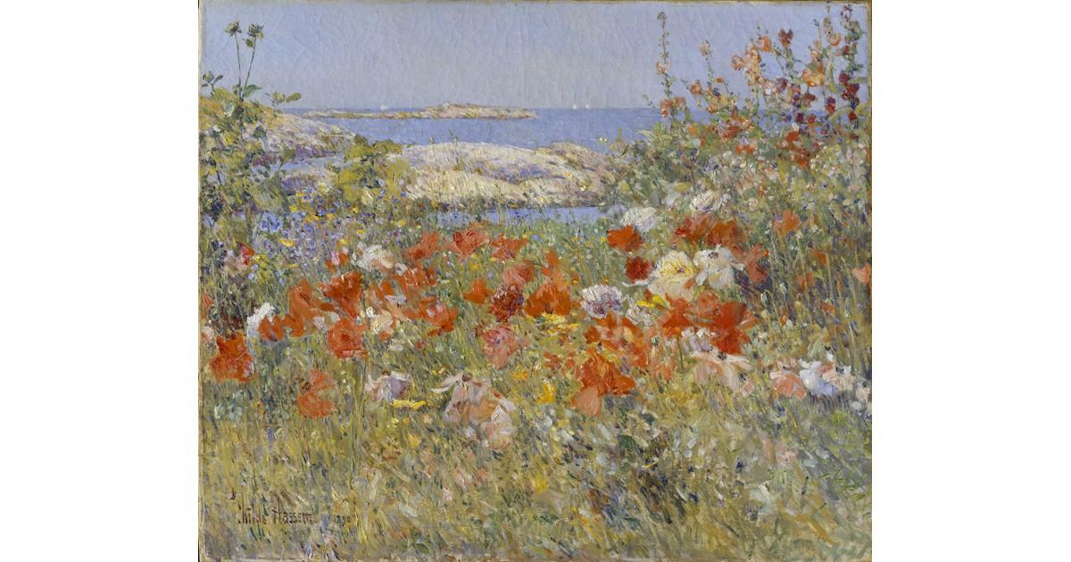 Celia Thaxter's Garden c. 1890, by Childe Hassam