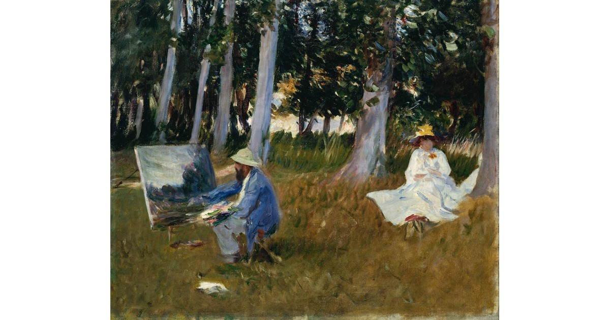Claude Monet Painting by the Edge of a Wood, c. 1885, by John Singer Sargent.