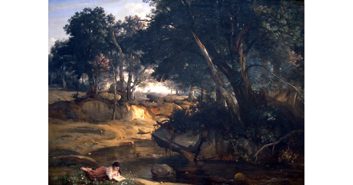 Forest of Fontainebleau, c. 1830, by Jean Baptist Camille Corot