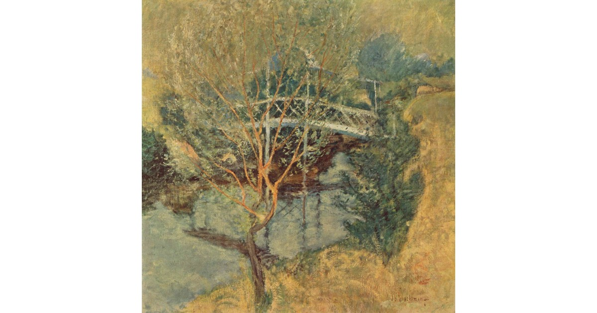 The White Bridge c. 1895 by John H. Twachtman
