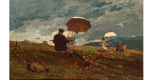 Artists Sketching in the White Mountains, c. 1868 by Winslow Homer