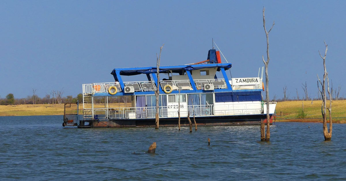 Zumbuku houseboat on Lake Kariba