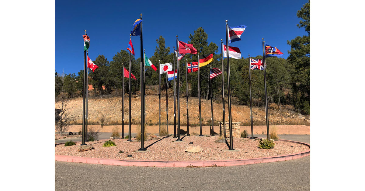 Flags outside United World College