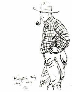 Maynard Dixon sketch - Swinnerton