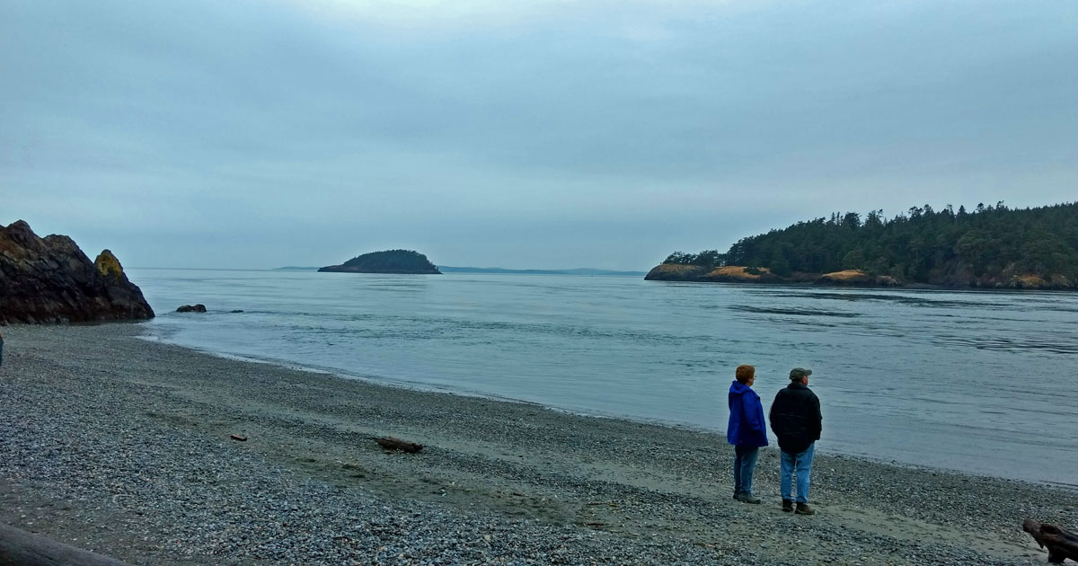 The beach at Deception Pass is a perfect spot to relax