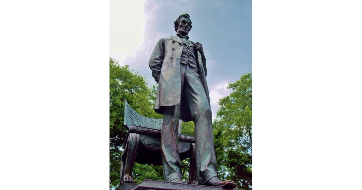 Abraham Lincoln - The Man in Lincoln Park Chicago. Statue by Augustus Saint-Gaudens installed 1887