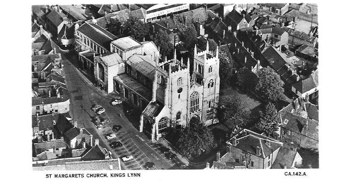 A view from the air, showing just how big the Church is today. (Picture of the '50's or '60's.)