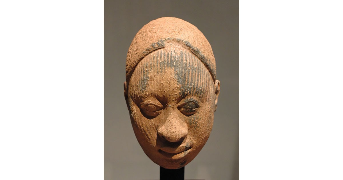 African sculpture of the Ife civilization. Terracotta, Nigeria, 12th - 14th century.
