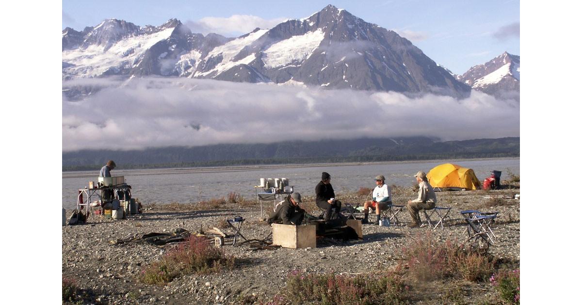 Alaska Camp life with Fairweather Range -Margaret Piggott