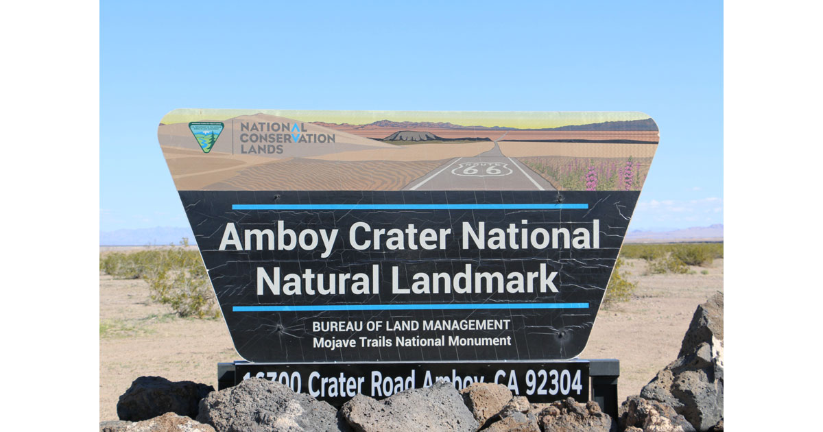 Amboy Crater is managed by the Bureau of Land Management