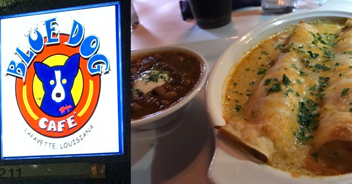 Blue Dog Cafe Crawfish Enchiladas