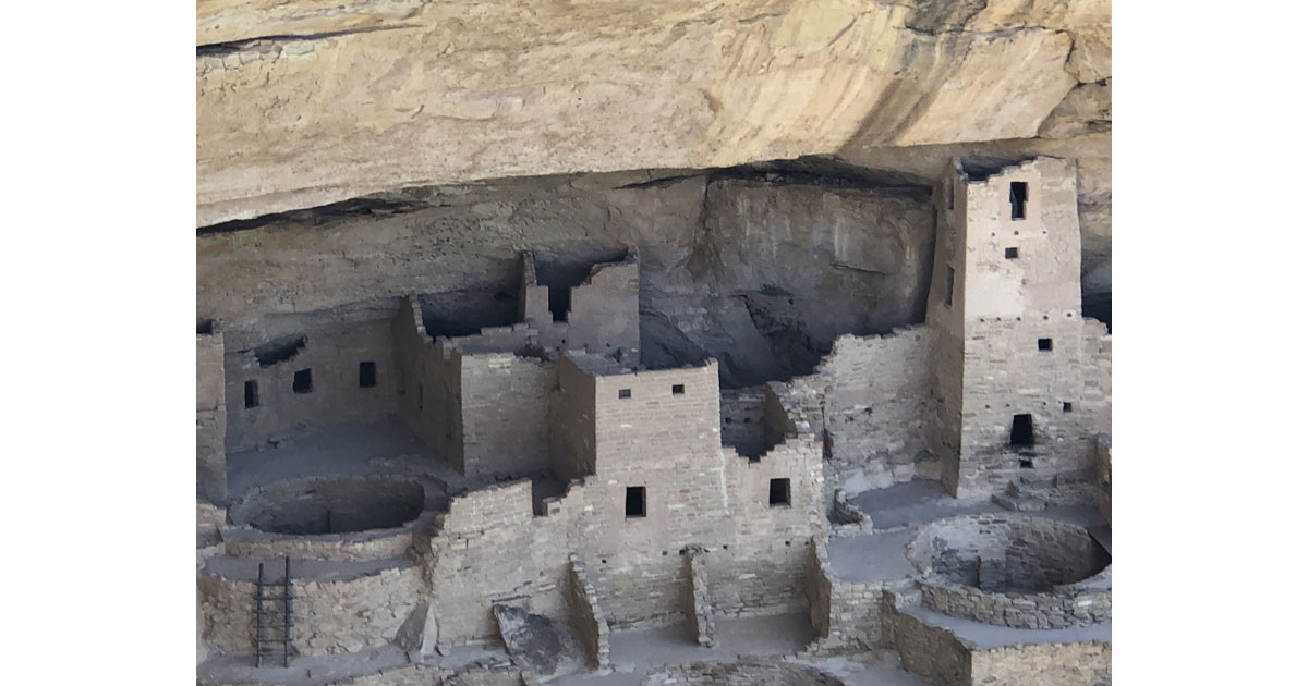 Cliff dwellings were built into the alcoves