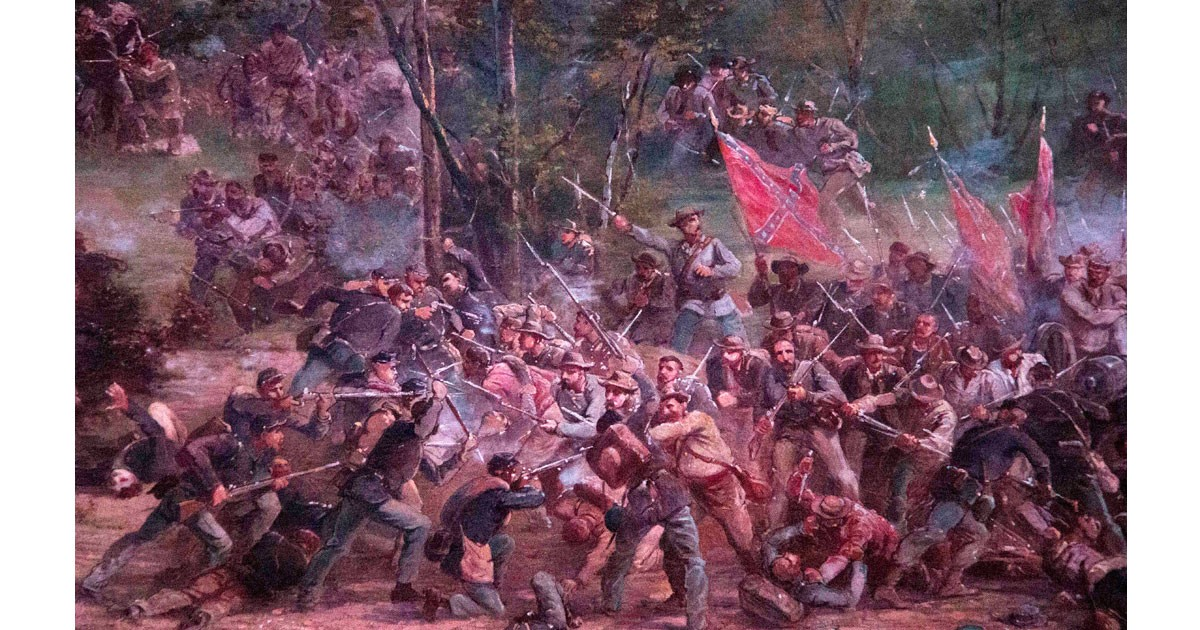 Close Up of Gettysburg Cyclorama