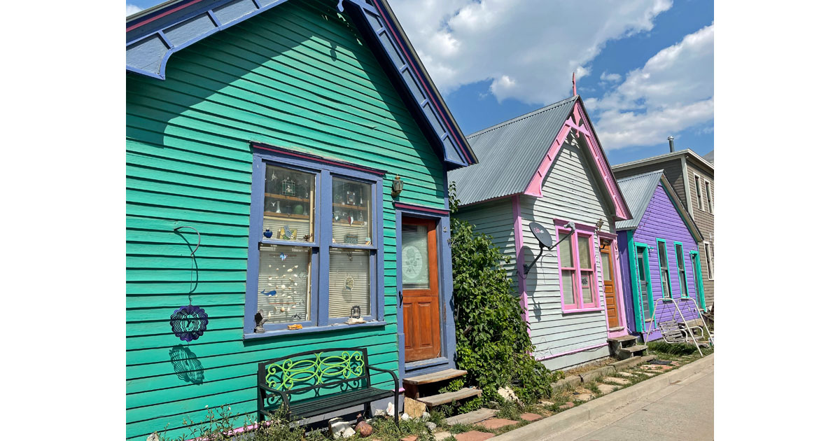 Colorful row of houses.