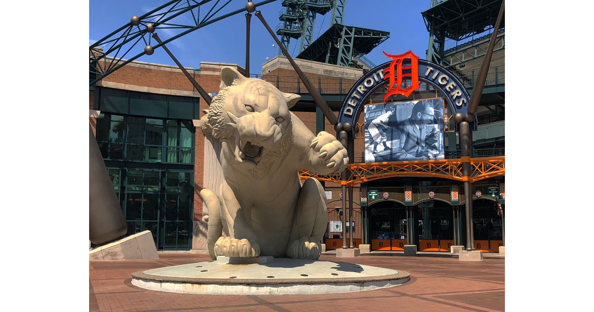 Comerica Stadium, home of the Detroit Tigers