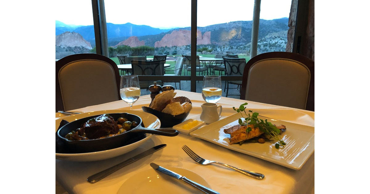 Dining at the Garden of the Gods Resort and Club is a memorable experience. Photo by Debbie Stone