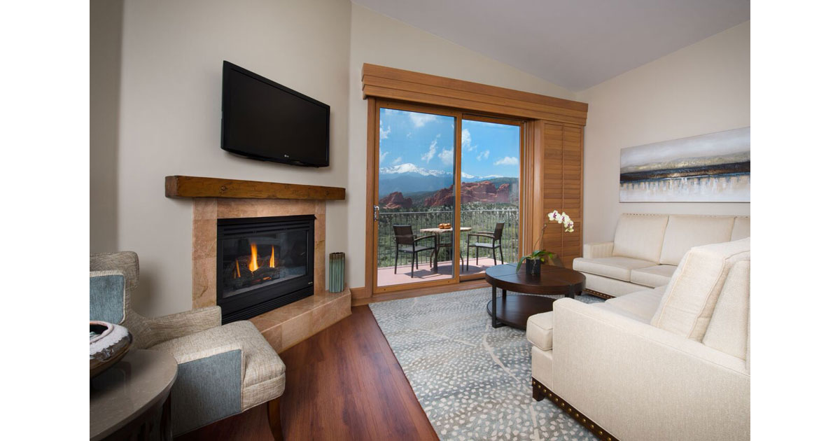 Enjoy a heavenly getaway at the Garden of the Gods Resort and Club in Colorado Springs.  Photo courtesy by Garden of the Gods Resort and Club