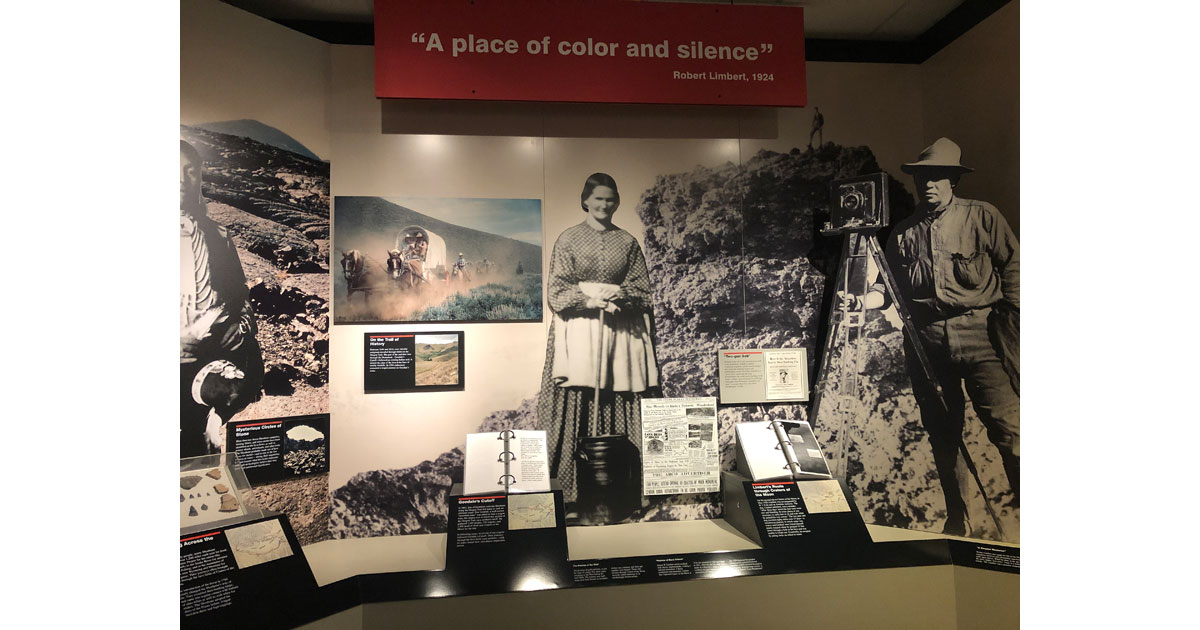 Exhibits at the visitor center provide information about the park's geology and history.