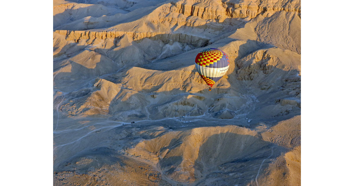Floating over Valley of the Kings
