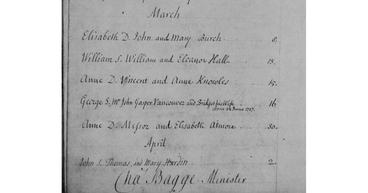 Parish Register