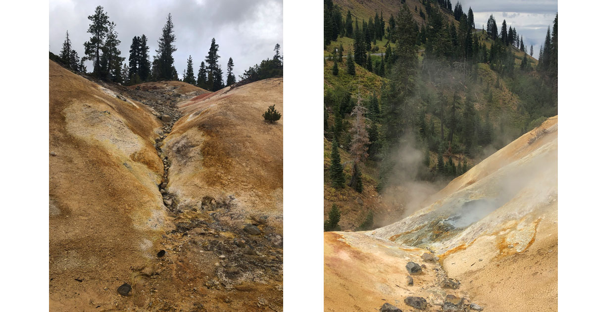 Geothermal features are omnipresent and a kaleidoscope of color.