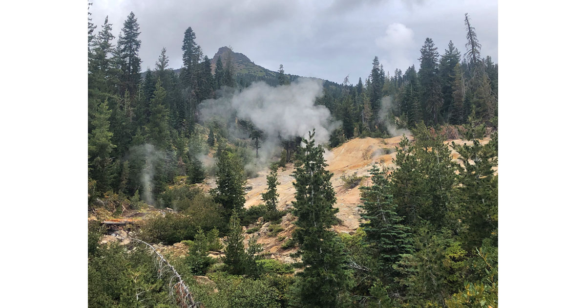 Geothermal features are omnipresent.