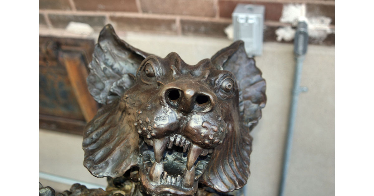 Head detail-Bronze Endangered Species Sculpture