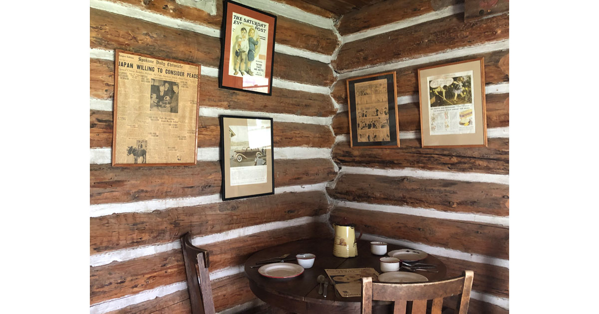Artifacts in Sterling Cabin.