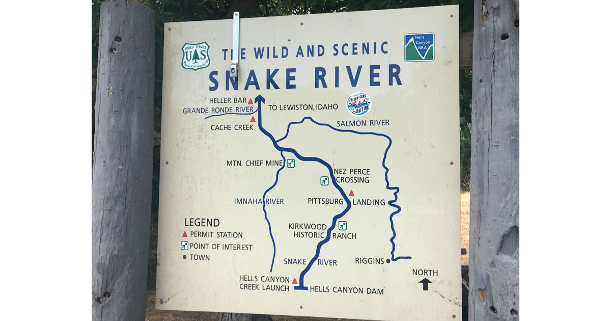 The Wild and Scenic Snake River courses through Hells Canyon.