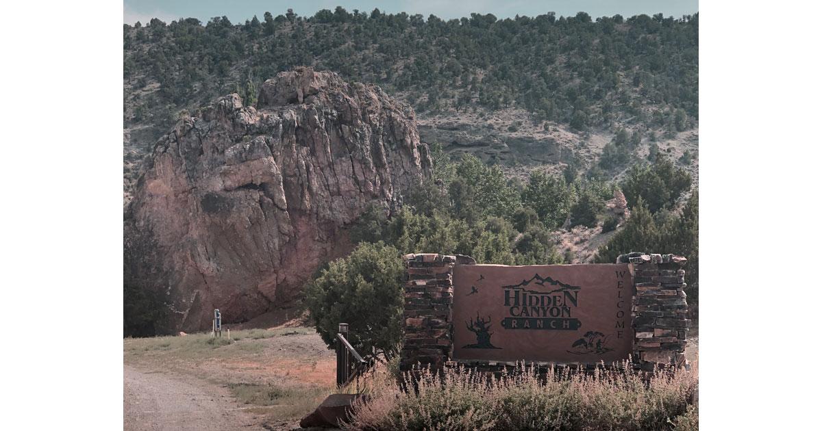 Hidden Canyon Ranch entrance