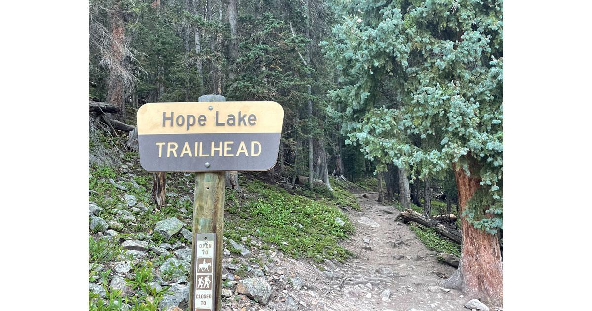 Hope Lake trailhead.