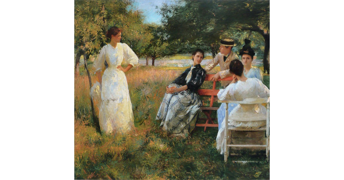 In the Orchard by Edmund C. Tarbell, 1891