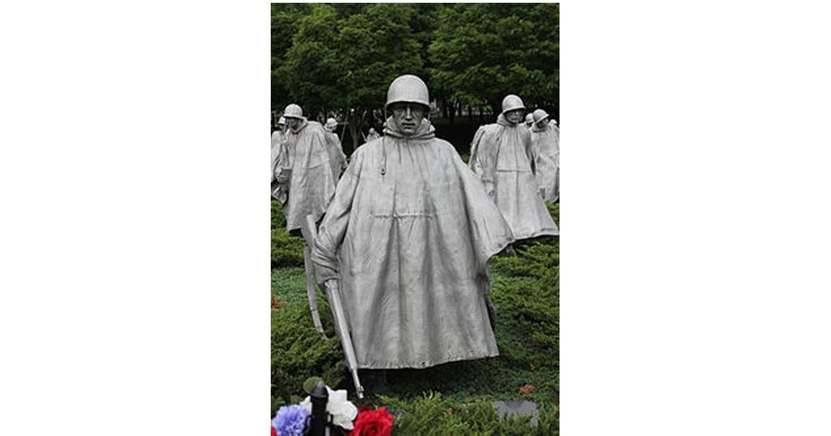 Korean War Memoiral stainless steel sculpture