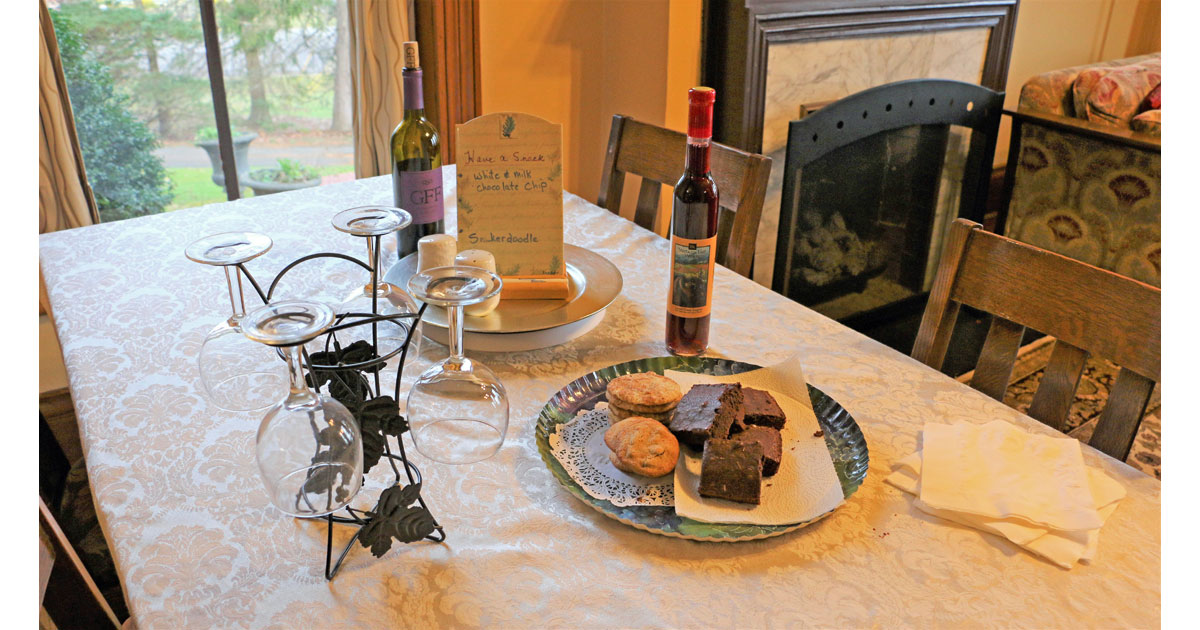 Local Wine and Brownies