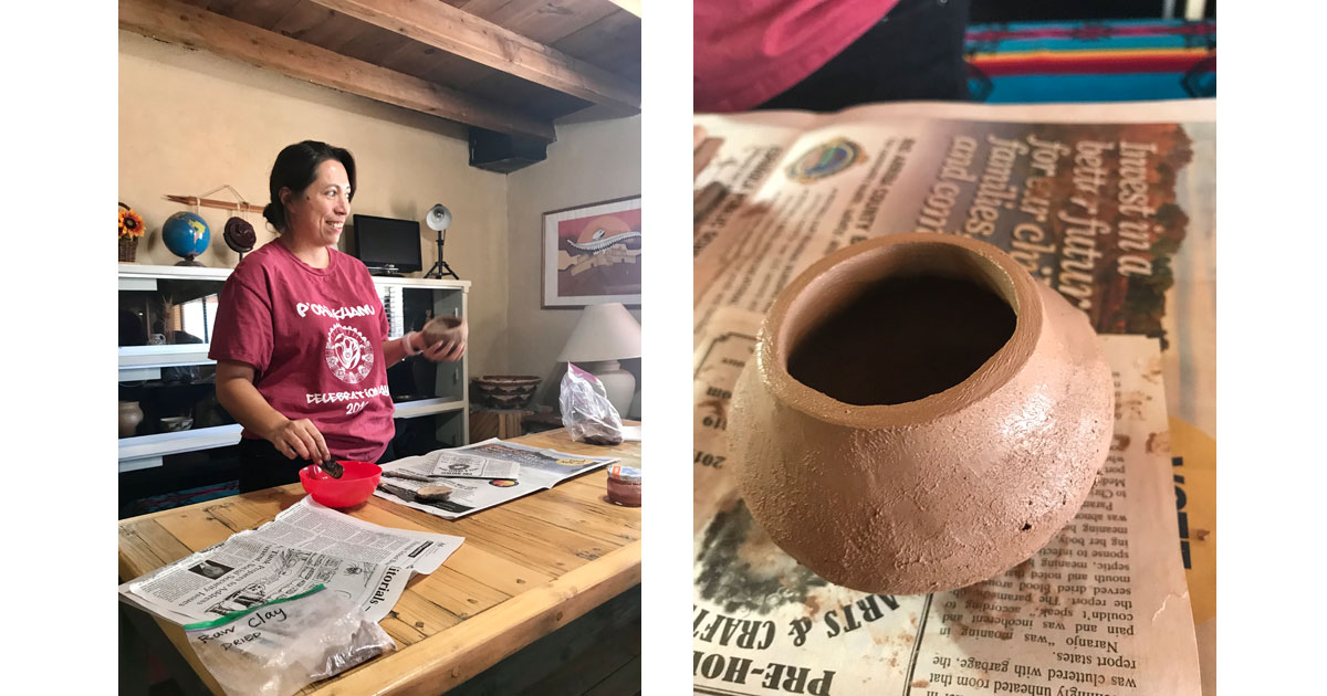 Madelyn Naranjo pottery demo